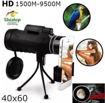 Lente Telescópica Celular Luneta Zoom 40x60 Hd Bak4 9500m