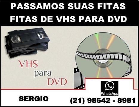 Conversão de vhs para DVD. Confira !!! Reveja suas Filmagens Antigas