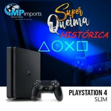 Playstation 4 Slim Novo de Verdade!!! Completo! Lacrado!!! Melhor preço do ES!! opção 12x