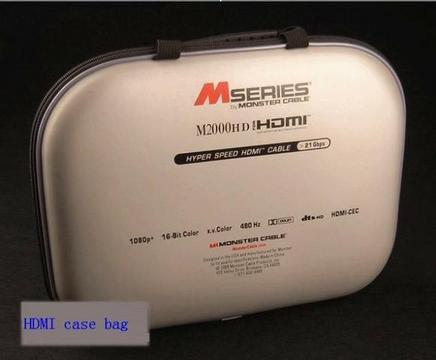 Cabo Hdmi Monster M1000HD M2000HD 2,44mts Case Bag M1000HD Samzhe 4k 2.0 Aceito Trocas