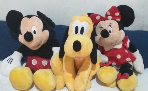 Mickey, Pluto e Minie Pelúcia da Disney