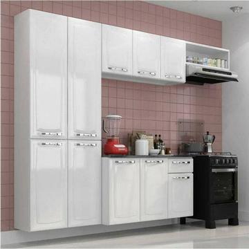 Armário de Cozinha em Aço Itatiaia Completa c/ Balcão na cor todo Branco
