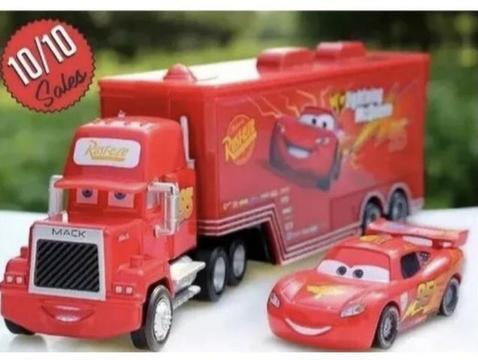 Disney puxar Carros Brinquedos 2 pcs Mcqueem Caminhão Mack
