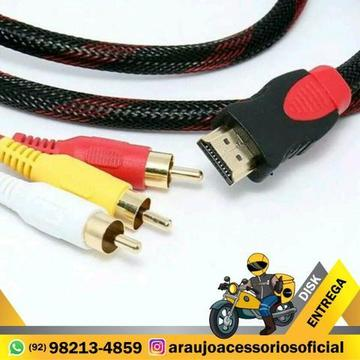 Cabo HDMI para AV RCA Macho Adaptador Audio Video Revertido