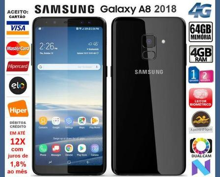Galaxy A8 2018 4G Octa Core, 64GB, 4GB Ram, Tela 5.6