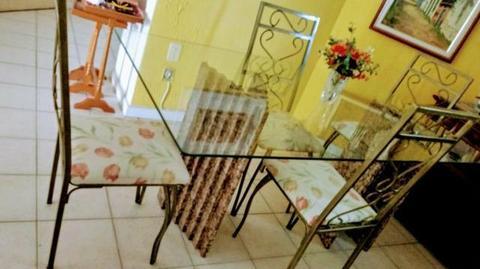 Mesa de jantar vidro 162x91cm