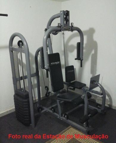 Estação de Musculação com Leg Press Titanium