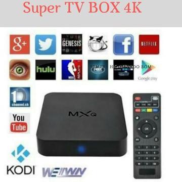 TV Box 4 K Transforme sua TV em Smart e tenha acesso a seus programas favoritos!!