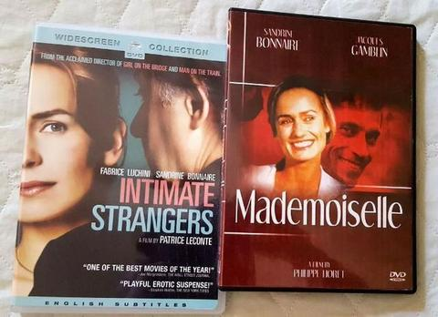 3 Dvds Originais com Sandrine Bonnaire: Mademoiselle + Intimate Strangers + Queen to Play