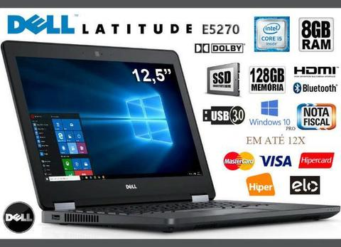 Notebook Dell Latitude Core i5, 8GB, SSD 128GB, Tela de 12.5?, Novíssimo, Nota, Gar, Troco