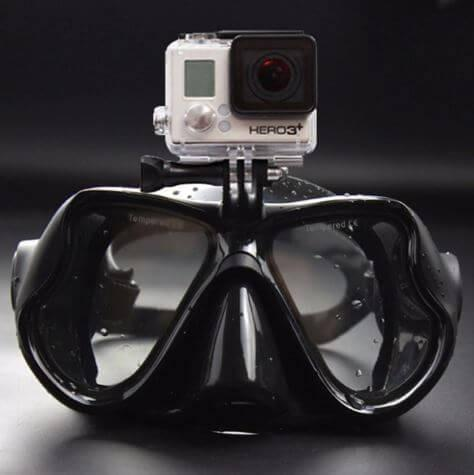 Máscara de Mergulho Profissional para Câmera Gopro