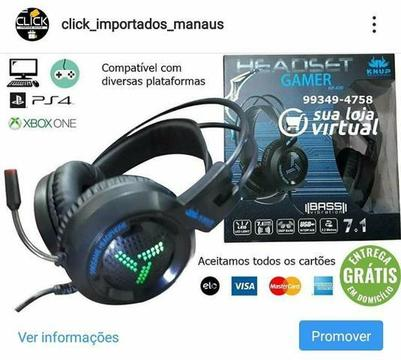 Headset gamer kp 430 +adaptador grátis