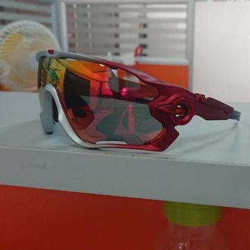Óculos Oakley Jawbreaker Para Ciclismo Verde/Vermelho Prizm - Novo e Importado