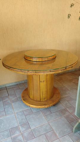 Linda mesa rústica 6 lugares