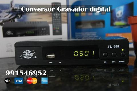 Conversor Tv Digital Função Gravador com saída HDMI, entregamos ac. cartão