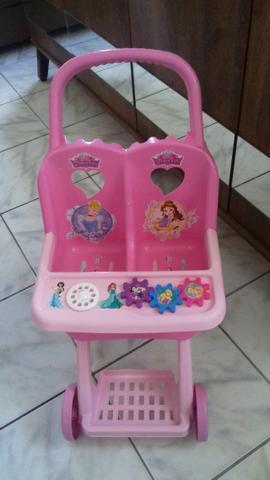 Carrinho De Bebê de Brinquedo Duplo Infantil Princesas Disney - Lider