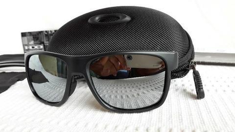 Óculos Oakley Crossrange XL Preto/Prata Polarizado - Novo e Importado