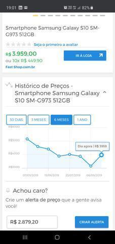 Sansung S10 512Gb novo lacrado